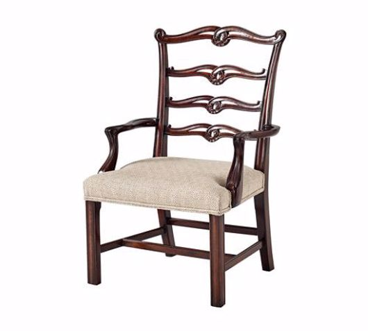 Picture of A HAND CARVED CHIPPENDALE CHILDREN'S OPEN ARMCHAIR