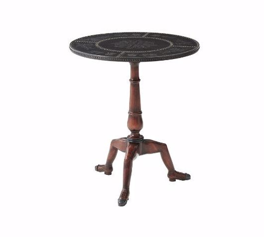Picture of A STUDDED MANX SIDE TABLE