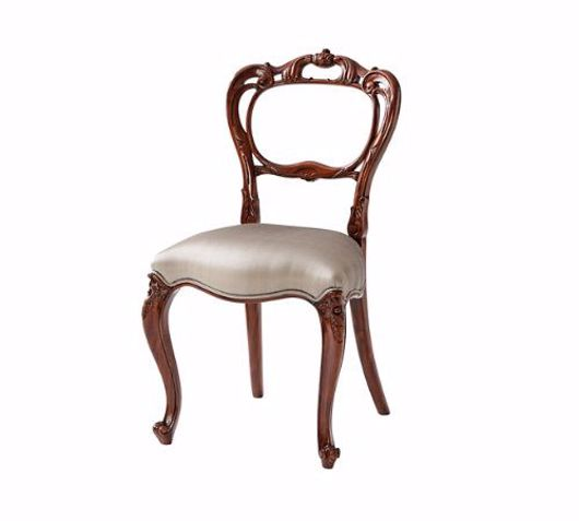 Picture of A FINE HAND CARVED BUCKLE BACK SIDE CHAIR