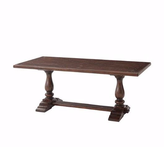 Picture of A RUSTIC COMPANION DINING TABLE