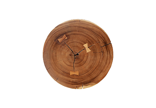 Picture of CHAMCHA WOOD PEDESTAL ROUND