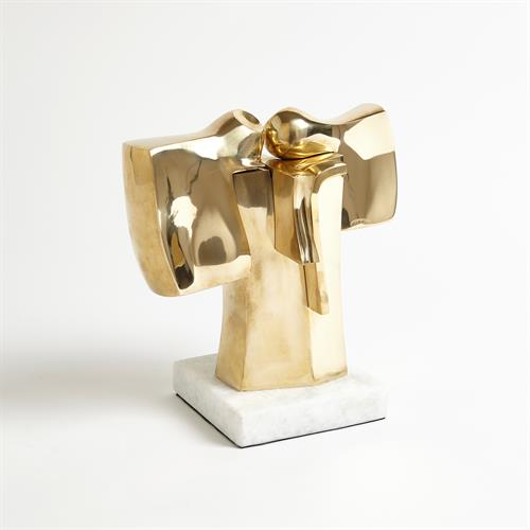 Picture of ABSTRACT DUAL FIGURE SCULPTURE-BRASS