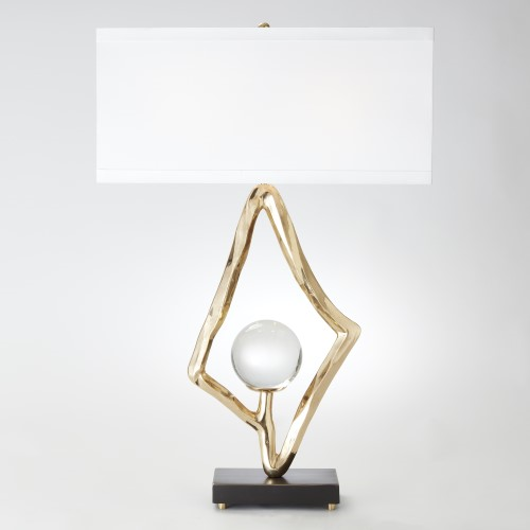 Picture of ABSTRACT LAMP-BRASS