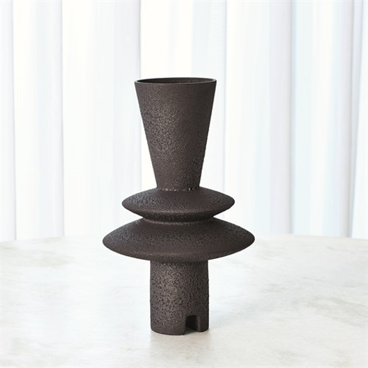 Picture of ADELYN GEOMETRIC VASE-BLACK