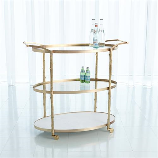 Picture of ARBOR BAR CART-BRASS