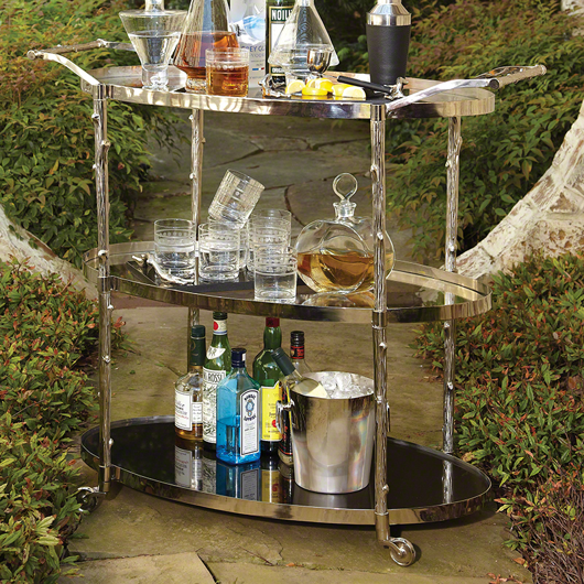 Picture of ARBOR BAR CART-NICKEL