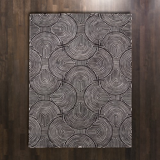 Picture of ARCHES RUG-BLACK/IVORY