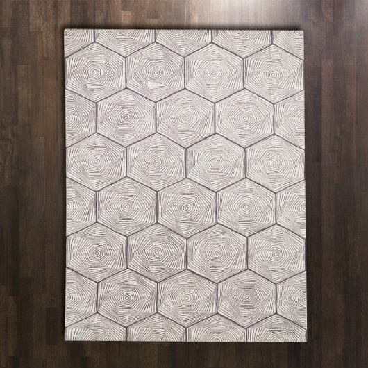 Picture of HEX SWIRL RUG