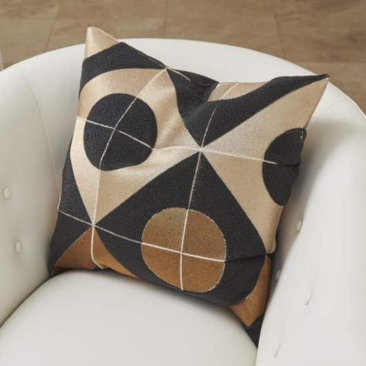 Picture of CIRCLE MARQUETRY PILLOW