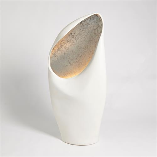 Picture of COWL LAMP-WHITE W/SILVER LEAF