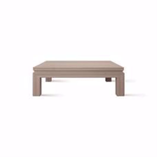 "Picture of APTOS 48"" SQUARE CHESTNUT COCKTAIL TABLE"