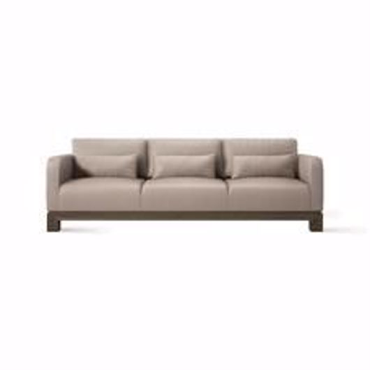 "Picture of APTOS 95"" LEATHER SOFA"