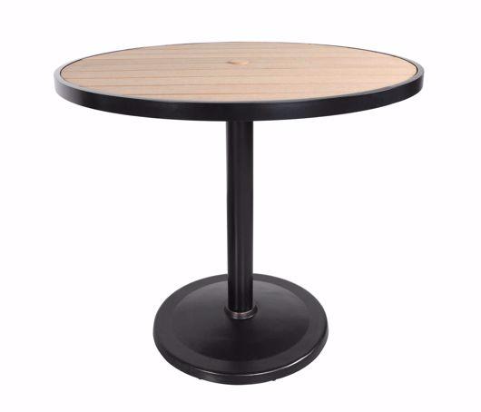 "Picture of KENSINGTON 48"" ROUND PEDESTAL BAR TABLE"