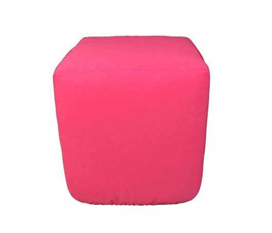 Picture of PATIO FURNITURE CUSHIONS & OUTDOOR PILLOWS : SQUARE OUTDOOR POUF