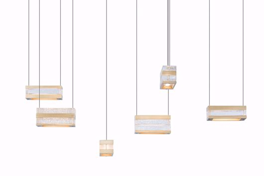 Picture of STACKS BRASS 6-LIGHT PENDANT