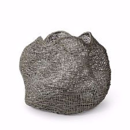 Picture of ANDORRA WICKER URN, LARGE GREY