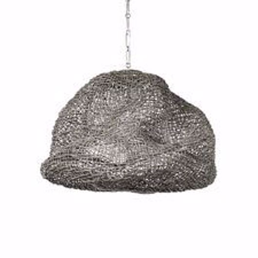 Picture of ANDORRA WICKER PENDANT, LARGE GREY