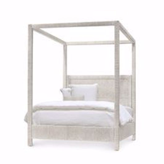 Picture of WOODSIDE CANOPY BED, QUEEN, WHITE SAND