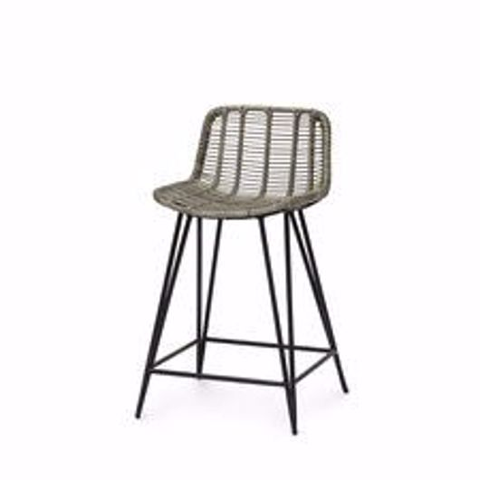 """Picture of HERMOSA OUTDOOR 24"""" COUNTER STOOL GREY"""