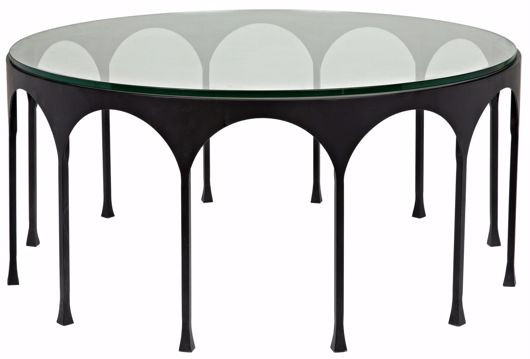 Picture of ACHILLE COFFEE TABLE, BLACK METAL