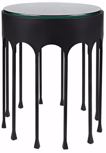 Picture of ACHILLE SIDE TABLE, BLACK METAL