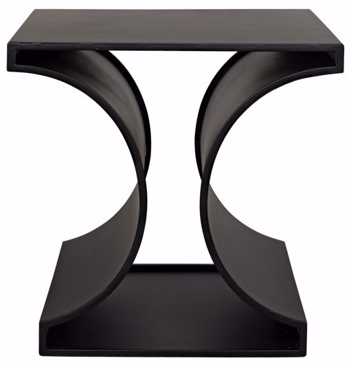 Picture of ALEC SIDE TABLE, BLACK METAL