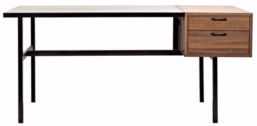 Picture of ALGERON DESK WITH BLACK METAL