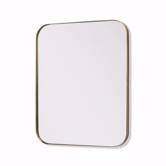 """Picture of AALINA MIRROR 48"""" - BRUSHED BRASS"""