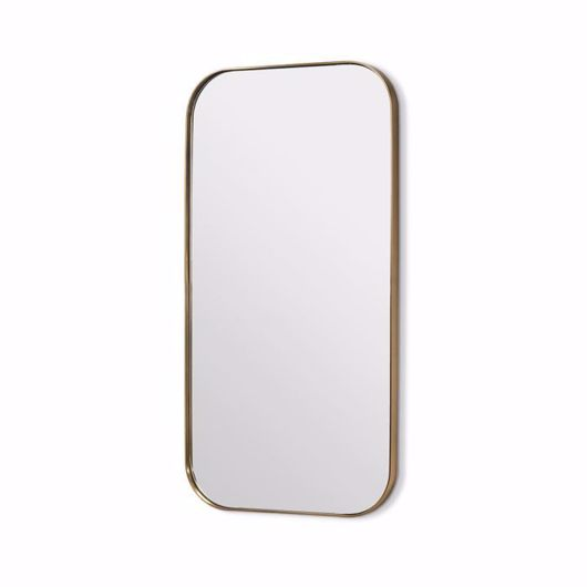 """Picture of AALINA MIRROR 54"""" - BRUSHED BRASS"""