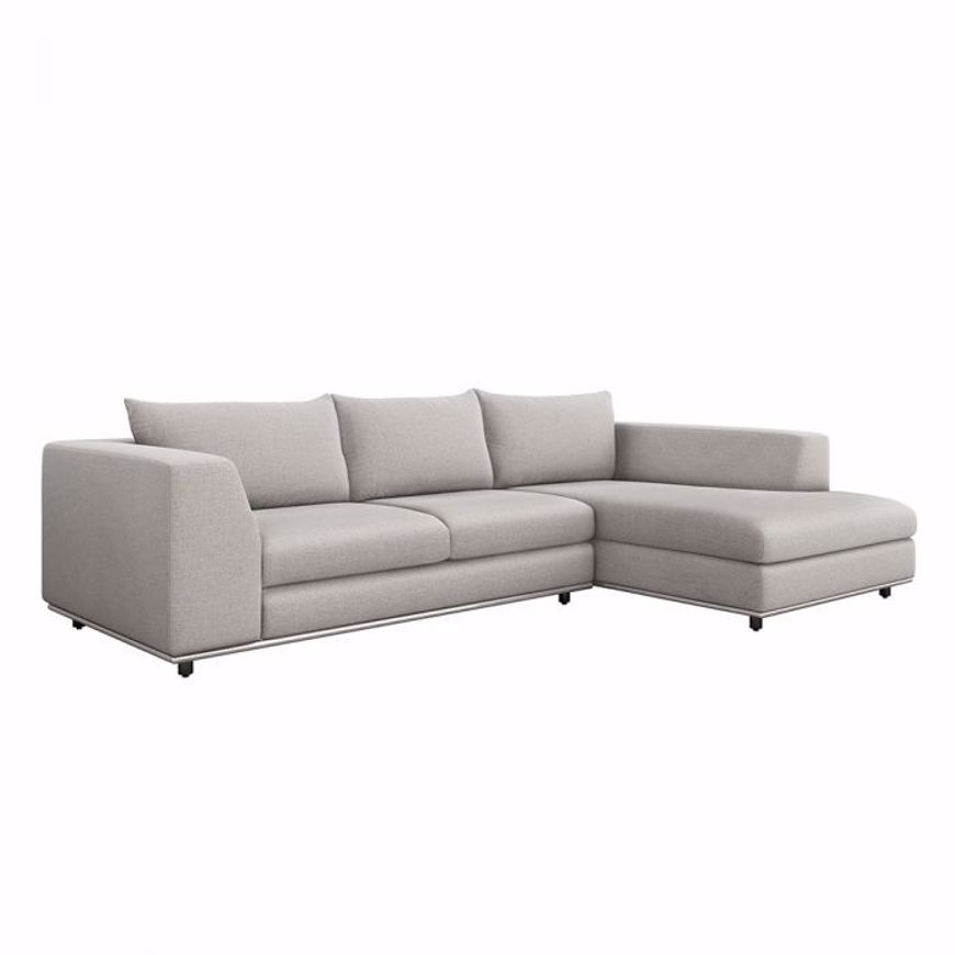 Picture of COMODO RIGHT CHAISE 2 PIECE SECTIONAL - GREY