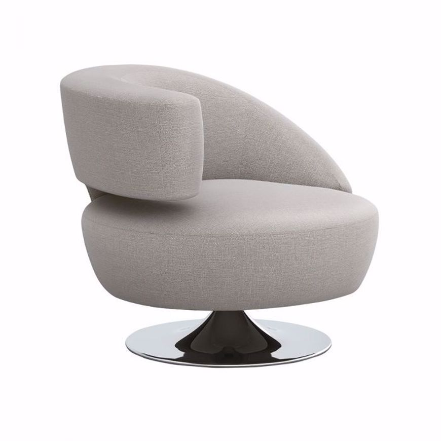 Picture of ISABELLA SWIVEL LEFT CHAIR - GREY